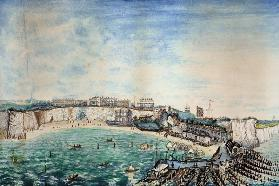 View of the Beach and Harbour at Broadstairs, Kent