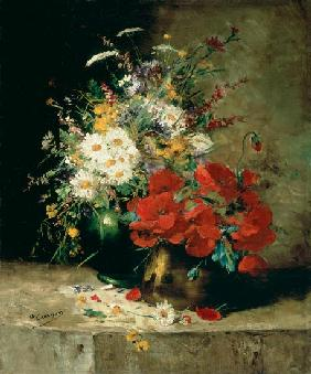 Still life with corn poppy