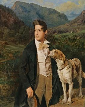 Woods miller son Ferdinand with dog