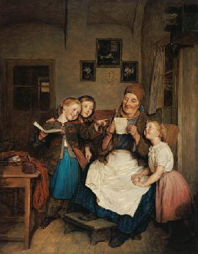 Grandmother with three granddaughters