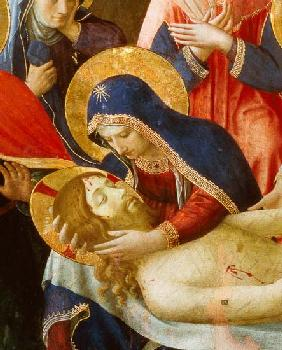 Deposition from the Cross, detail of the Virgin Mary
