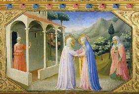 The meeting of Maria and Anna. Predella of the altar proclamation of Mariae
