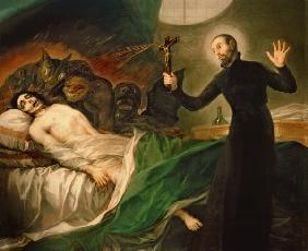 St. Francis Borgia (1510-72) Helping a Dying Impenitent