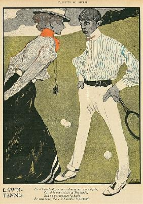 Lawn Tennis, from ''L''Assiette au Beurre'', 1st February 1902