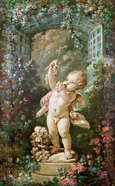 Cupid with Grapes