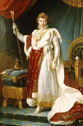 Napoleon voucher distinctive in the coronation regalia. Copy
