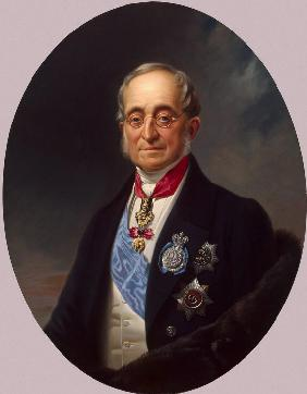 Portrait of the Chancellor of the Russian Empire Count Karl Robert Nesselrode (1780-1862)