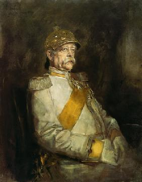 Prince Otto of Bismarck in the uniform of the on account of city dwellers cuirassiers