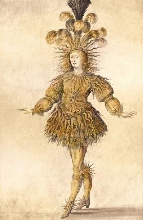 King Louis XIV of France in the costume of the Sun King in the ballet ''La Nuit''