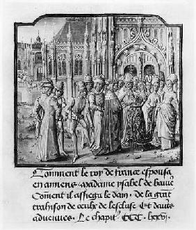 T.2 fol.311v Marriage of Charles VI (1368-1422) King of France and Isabella of Bavaria (1371-1435) a