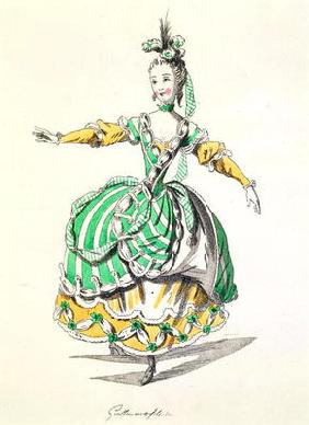 Costume design for Phrygienne, in Dardanus, a libretto by Leclerc de Labruere, composed by Jean-Phil