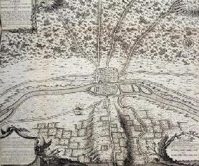 Lutetia or the second plan of Paris in the 4th and 5th centuries A.D., 1722 (engraving)