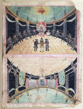 Masonic Reception in France, 2nd half eighteenth century (gouache on paper)