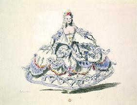 Opera Costume, from the Menus Plaisirs Collection, facsimile by A. Guillaumot Fils (colour litho)
