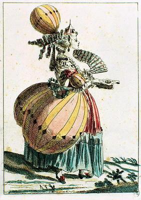 The Flying Coquette, c.1784 (colour engraving)