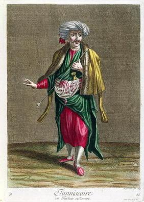 The Janissary, from the 'Collection of Prints of Costumes from the Levant', engraved by Philippe Sim