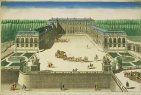 View of the Chateau of St. Cloud, engraved by Antoine Aveline (1691-1743) (engraving)