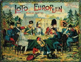 'Loto Europeen', French version of the game of Lotto for children, c.1900 (colour litho)
