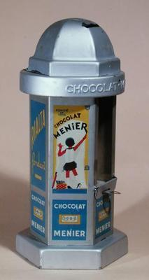 Toy Moneybox advertising the chocolate 'Menier' delivering chocolate to the children, c.1930 (tin)