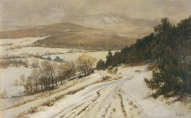 Taunus Mountains in Winter, before 1900 (oil on canvas)