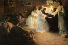Young Girls at a Piano