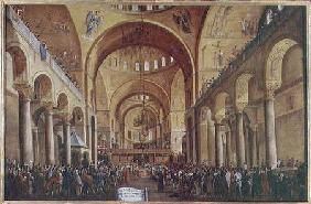 The Presentation of the New Doge to the People in the Basilica of San. Marco