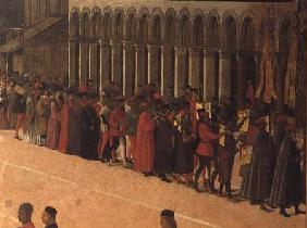 Procession in St. Mark's Square, detail of musicians