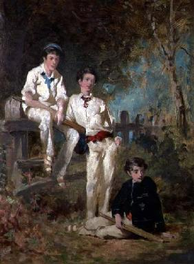 Three Young Cricketers