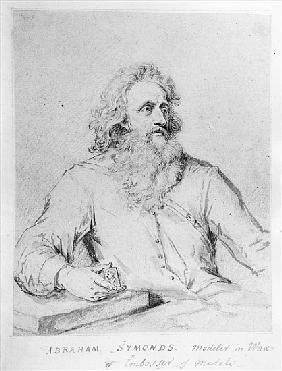 Abraham Symonds, after a portrait Sir Godfrey Kneller (pen & ink and wash on paper)