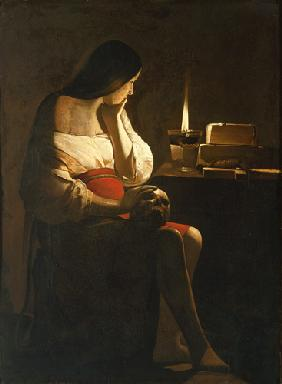 The St. Magdalena with the night light (called: Madeleine Terff)