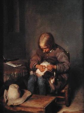 The Flea-Catcher (Boy with his Dog)