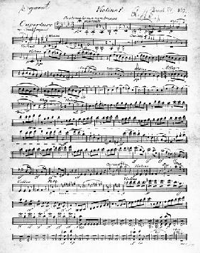 Sheet Music for the Overture to ''Egmont'' Ludwig van Beethoven, written between 1809-10