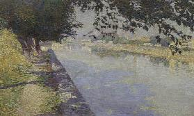 On banks of Arno, 1891