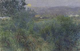 The rising moon, 1897, by Giorgio Kienerk (1869-1948), oil on canvas, 164x248 cm. Italy, 19th centur