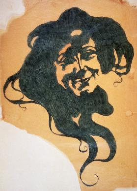 The Smile, 1900, painting by Giorgio Kienerk (1869-1948), pencil and ink on tissue paper, 45.5x33.6