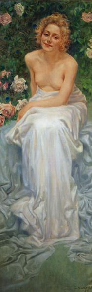 The Pleasure, 1900, painting by Kienerk George (1869-1948), part of the Human enigma triptych, oil o