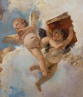 G.B.Tiepolo / Putto w.Book / Paint.1744