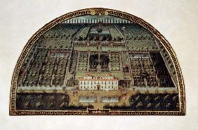 Villa di Castello from a series of lunettes depicting views of the Medici villas
