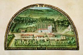 Colle Salvetti, from a series of lunettes depicting views of the Medici villas
