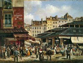 View of the Market at Les Halles
