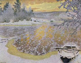 Frost on Ice, 1924 (colour litho)