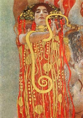 Hygieia. Detail from the medicine