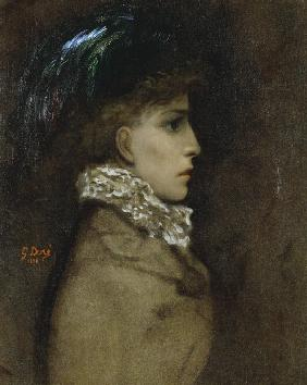Portrait of the actress Sarah Bernhardt (1844-1923)