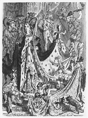 A queen, illustration from ''Les Contes Drolatiques'' Honore de Balzac (1799-1850)