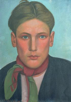 Head of a Boy, c.1920 (oil on canvas)