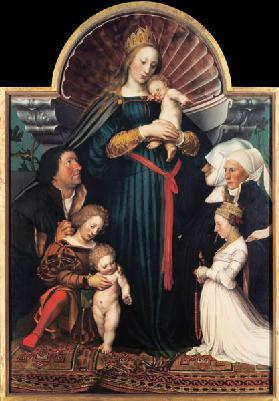 Madonna with child and founders (Darmstädter Madonna)