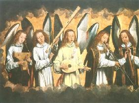 Angel playing instruments (right wing)