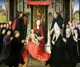 The Virgin and Child with St. James and St. Dominic Presenting the Donors and their Family, known as