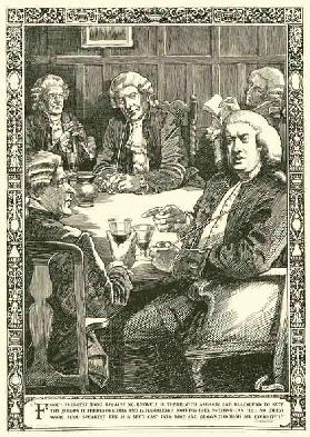 Dr Johnson in conversation (litho)