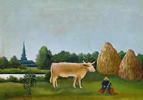 Landscape with cow (or: View at Bagneux with cow)